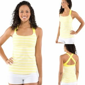 ⬇️ Lululemon Track and Train Tank Yellow Size 4/6